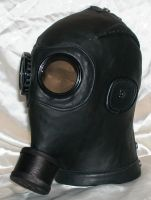 Custom gasmask left side by GriffinLeather