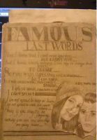 GCSE Art Project - Famous Last Words Page by GHOULISHGLOW