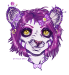floaty head: silvertiger by sugarpillRx