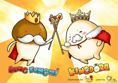 King Funghi and King Mandora by isanctz