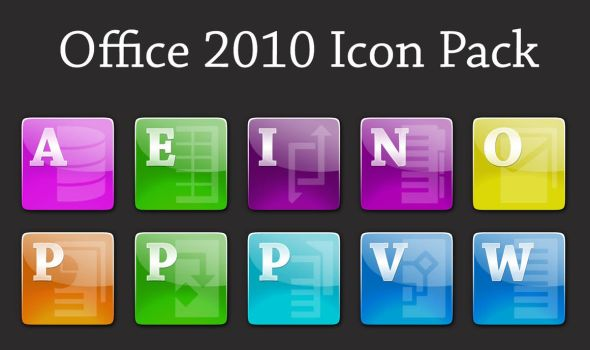 Glossy Office 2010 Icons by OriginalSource