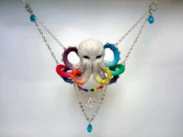 Polymer clay Rainbowctopus by MissDwidwi