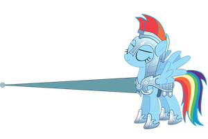 Rainbow Dash Joust vector by Freudski