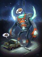 Robot VS Truck by Tatonkus