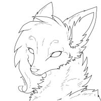 Free Fox or Dog lineart by ShootingStar2552