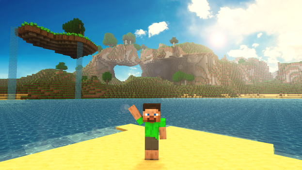 Beautiful day in Minecraft III by TheEvOlLuTiOnS