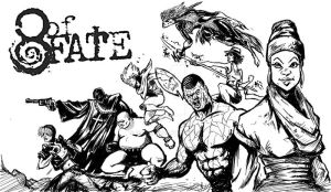 8 of Fate: splash inks by 1hope