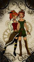 Steampunk Sisters by ScarletteSketcher