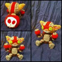 Ziggs amigurumi from League of Legends by ForgottenMermaid