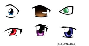 How to Draw Anime Eyes by BeckyTheBunny