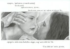 Text on: Arwen and Aragorn 2 by ArwenEvenstar16