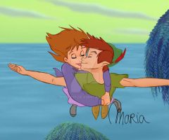 Peter Pan + Jane by Ribon95