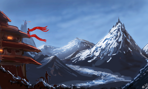 Thumbnail Painting of Landscape by RenZeyu