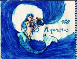 Aquarius Drawing - Fairy tail by GuillermoAntil