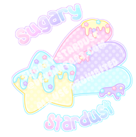 Sugary Stardust Logo + STICKER by Sugary-Stardust