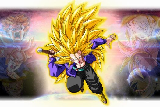 Future Trunks ssj f3 Guardian of the Universe by Wilson-Adrian