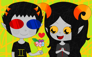 Sollux x Aradia by Annabel-Angie