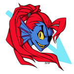 Undyne Sticker by Gazeozo