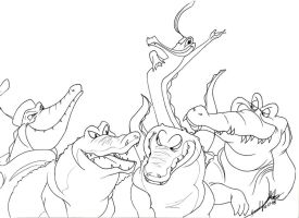 Disney Croc Lines by TheRaineDrop