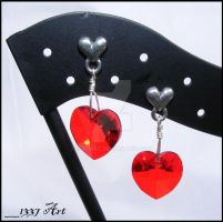 Passionate Love Post Earrings by 1337-Art
