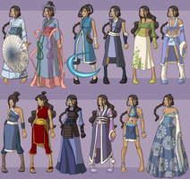 Katara's Fan Wardrobe by DressUp-Avatar