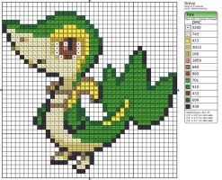 495 - Snivy by Makibird-Stitching