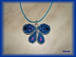 Turquoise butterfly pendant by jasmin7