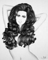 Raquel Welch Minimal by IleanaHunter