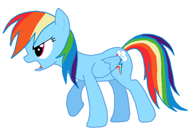 Microsoft Paint: Rainbow Dash by DrugzRbad