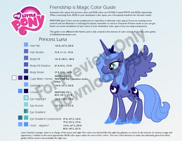 Princess Luna S1 Color Guide by kefkafloyd