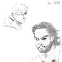 January Finn and Bigby by TheDeepestKing