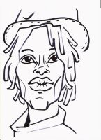 Tracy Chapman Caricature by Caricatures-By-Dali