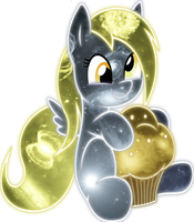 Cosmic Derpy Muffin Love by InuyashaRules6596