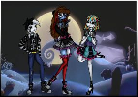 Skeletal Siblings by Black-Ice-Gryphon