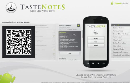 TasteNotes - Android App by thalion-art