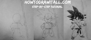 How To Draw Son Goku by HowToDrawItAll