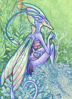 Lichen Fairy ACEO by thedancingemu