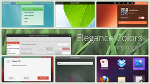 Gnome Shell - Elegance Colors by satya164