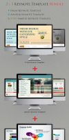 2+1 Keynote Templates Bundle by kh2838