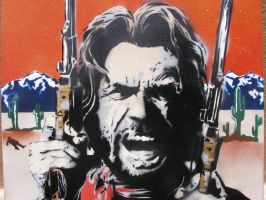 Clint Eastwood - Outlaw Josey Wales spray paint by TheStreetCanvas