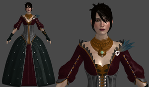 DAI Morrigan Dress XPS (updated) by Padme4000