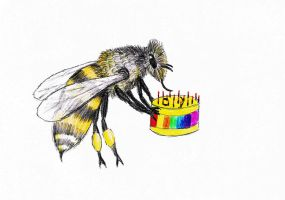 Birthday BEE For Thea by thingy-me-jellyfis