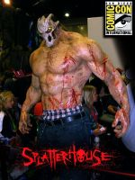 SPLATTERHOUSE Comic Con poster by Crockard