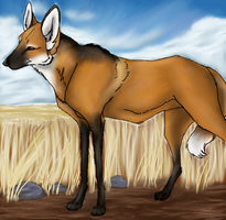 Maned Wolf by Forbidding
