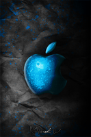 Iphone Dark Apple Wallpaper by cderekw