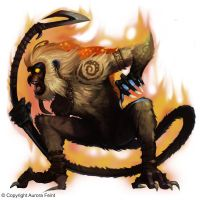 Monkey on Fire by Concept-Art-House