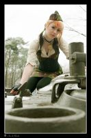 Army girl 1 by NeonRainbowGirl