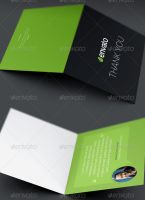Corporate Thank You Card Template by loswl