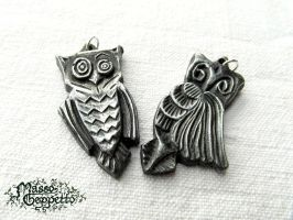 LITTLE OWLS METALFLUID PENDANTS by MassoGeppetto