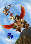 Banjo and Kazooie Newcomer Poster by alanep
